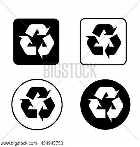 Set Of Recycle Environment Icon,eco Nature Waste Isolated On White Background, Garbage Ecology Syste