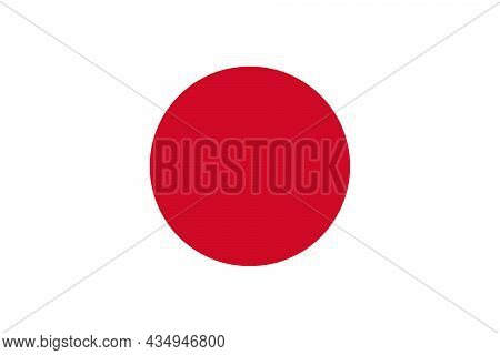The National Flag Of Japan Is An Island Country In East Asia, Located In The Northwest Pacific Ocean
