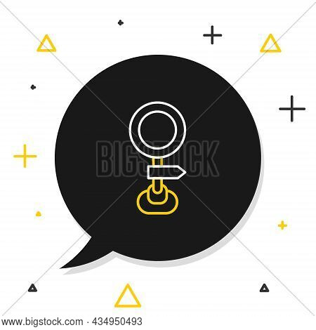 Line Road Traffic Sign. Signpost Icon Isolated On White Background. Pointer Symbol. Isolated Street
