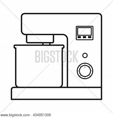 Isolated Object Of Mixer And Appliance Logo. Graphic Of Mixer And Mix Stock Symbol For Web.