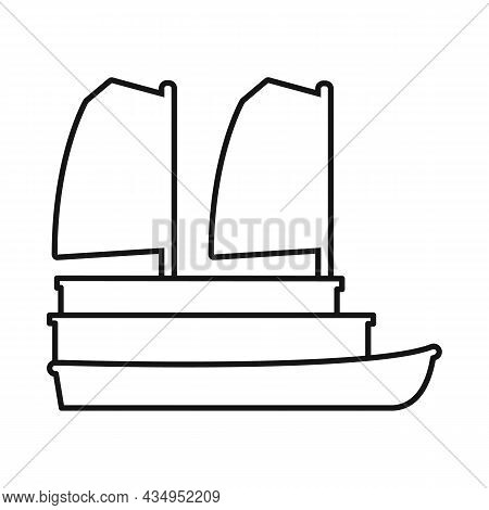 Vector Design Of Ship And Vietnamese Sign. Set Of Ship And Boat Vector Icon For Stock.