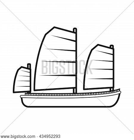 Vector Illustration Of Ship And Vietnamese Logo. Collection Of Ship And Boat Stock Symbol For Web.
