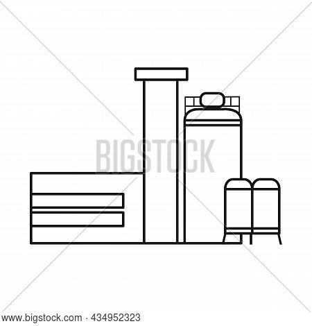 Vector Illustration Of Factory And Manufacture Symbol. Set Of Factory And Heavy Stock Vector Illustr