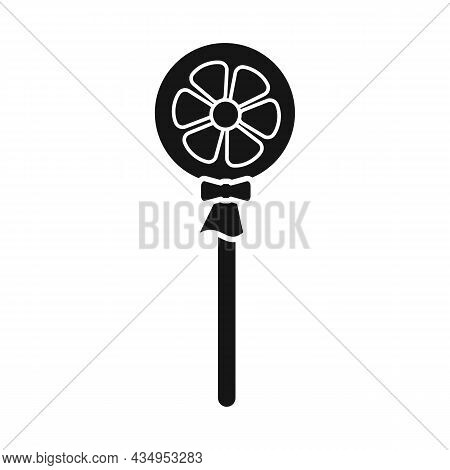 Vector Design Of Lollipop And Circle Logo. Web Element Of Lollipop And Stick Vector Icon For Stock.