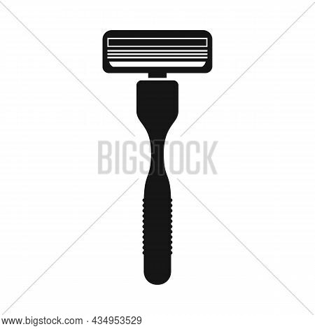 Vector Illustration Of Razor And Tools Black Icon. Isolated Icon Of Razor And Blade Stock Symbol For