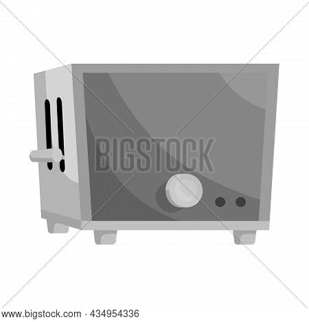 Vector Design Of Toaster And Kitchen Sign. Web Element Of Toaster And Oven Stock Symbol For Web.