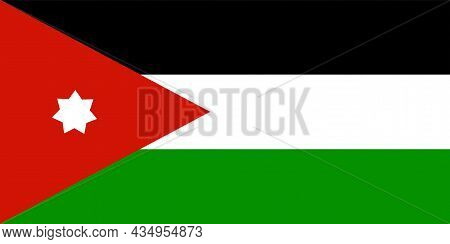 The National Flag Of Jordan Is A Country In Western Asia