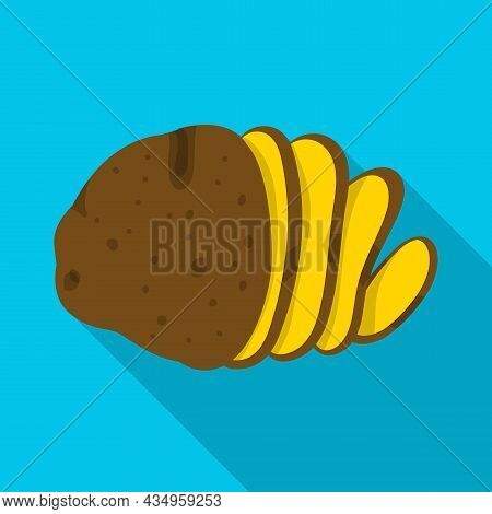 Isolated Object Of Potato And Chips Sign. Web Element Of Potato And Slice Stock Vector Illustration.