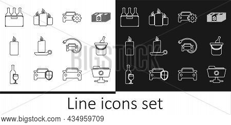 Set Line Ftp Sync Refresh, Bottle Of Wine In Bucket, Car Service, Burning Candle Candlestick, Bottle