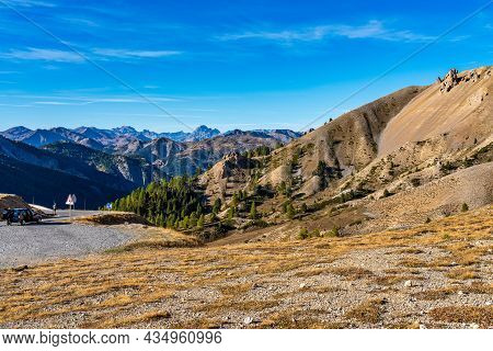 The Deserted Casse And The Izoard Pass In The French Alps, France In Europe