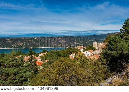 Aiguines In Verdon Gorge, Gorges Du Verdon In French Alps, Provence, France