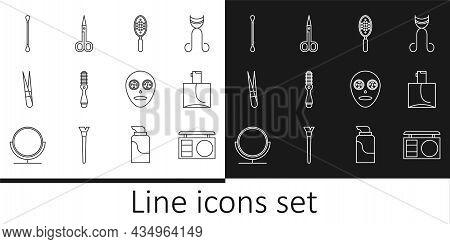 Set Line Eye Shadow Palette, Perfume, Hairbrush, Eyebrow Tweezers, Cotton Swab For Ears, Facial Cosm