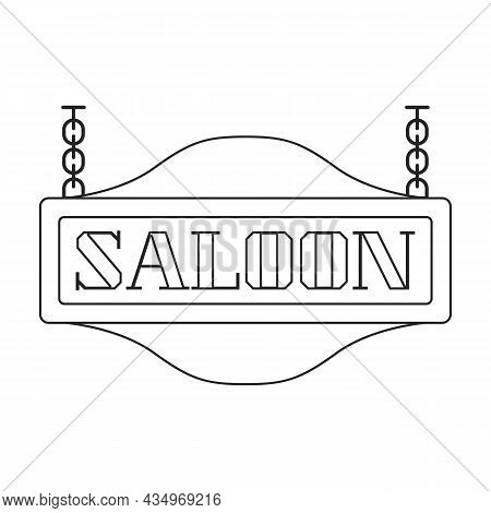 Western Saloon Vector Icon.outline Vector Icon Isolated On White Background Western Saloon.