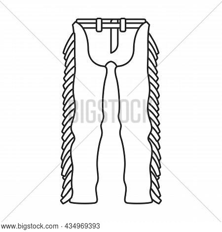 Pants Of Cowboy Vector Icon.outline Vector Icon Isolated On White Background Pants Of Cowboy.