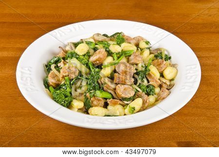 Gnocchi with Italian Sausages and Rapini