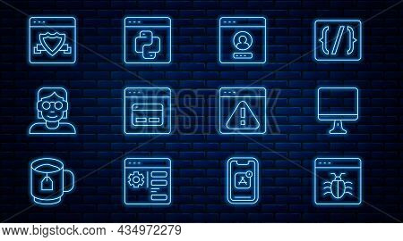 Set Line System Bug, Computer Monitor Screen, Create Account, Search Engine, Hacker Coder, Browser W