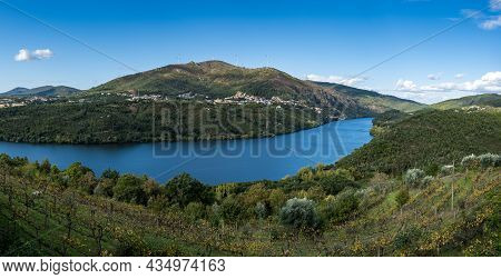 View Of Boneca Mountain Range In Douro Valley. Alto Douro Wine Region In Northern Portugal, Official