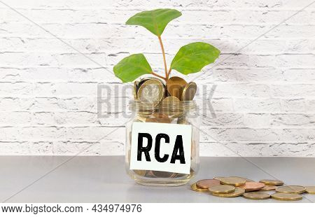Business Acronym Rca As Root Cause Analysis Written With Chalk On Wooden Mini Blackboard Labels.
