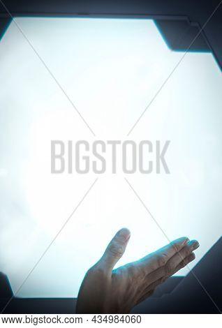 Glowing screen advanced technology digital remix