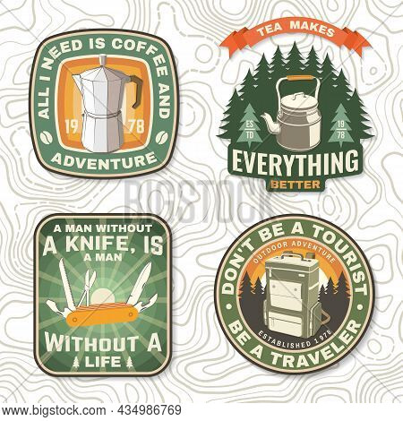 Set Of Travel Inspirational Quotes. Vector Concept For Shirt Or Logo, Print, Stamp Or Tee. Design Wi