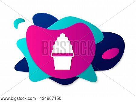 Color Cactus Peyote In Pot Icon Isolated On White Background. Plant Growing In A Pot. Potted Plant S