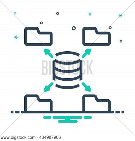Mix Icon For Source Origin Wellspring Place-of-origin Data Authority Mainframe Database Software Ser