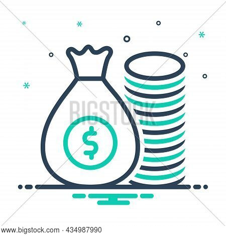 Mix Icon For Rich Wealthy Money Riches Piles Wealth Mammon Capital Cash