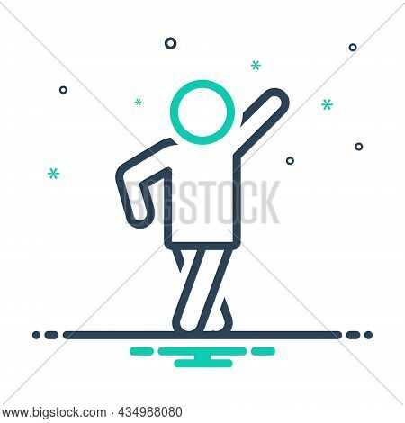 Mix Icon For Pose Man Modern Human Person Style Photo-shoot Posture Position Stance Attitude