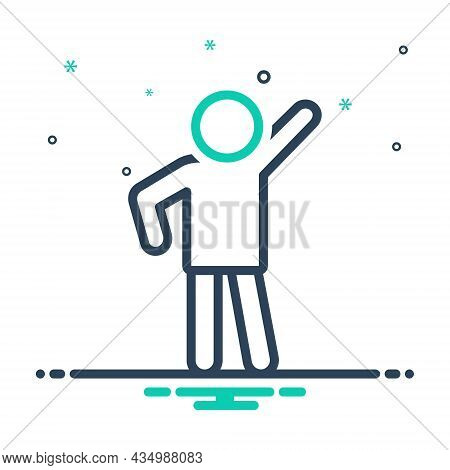 Mix Icon For Pose Modern Human Person Style Photo-shoot Posture Position Stance Attitude