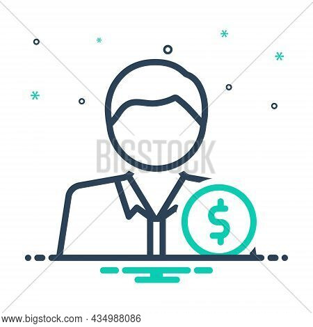 Mix Icon For Rich Man People Wealthy Affluent Moneyed Opulent Propertied Well-off Well-heeled