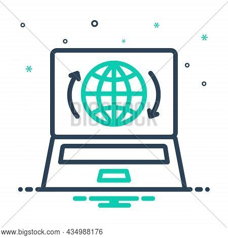 Mix Icon For Presence Impendence Showing Presence Globe Internet Online Webpage Access Technology Co