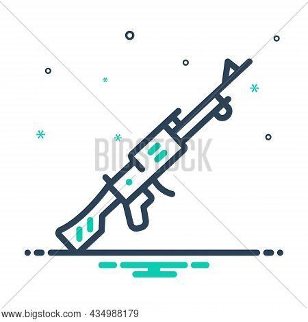 Mix Icon For Rifle Rummage Sniper Hunting Firearm Military Gadget Protection Gun Machinery Revolver