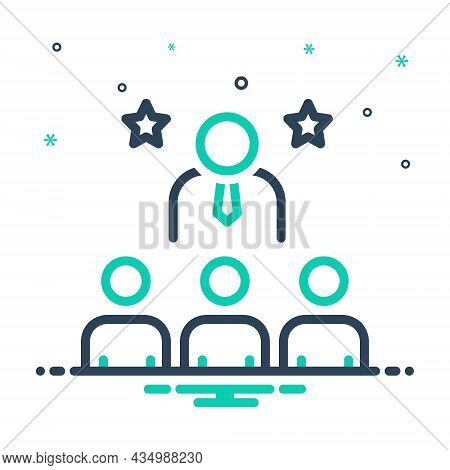 Mix Icon For Dominant Assertive Commanding Leading  Powerful Principal Administrator Chief Director