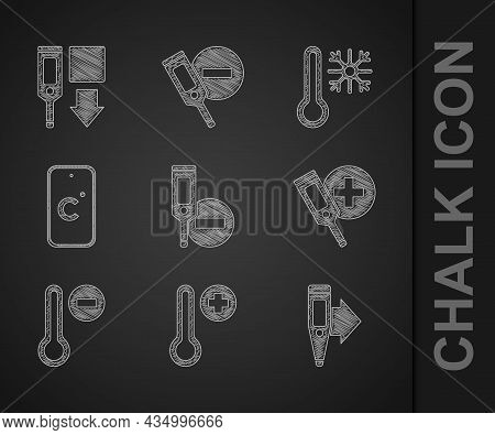 Set Digital Thermometer, Meteorology, Celsius, Thermometer With Snowflake And Icon. Vector