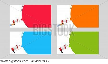 Important Warning Announcement Notice Vector Empty Blank Template For Copy Space Text Flat Cartoon I