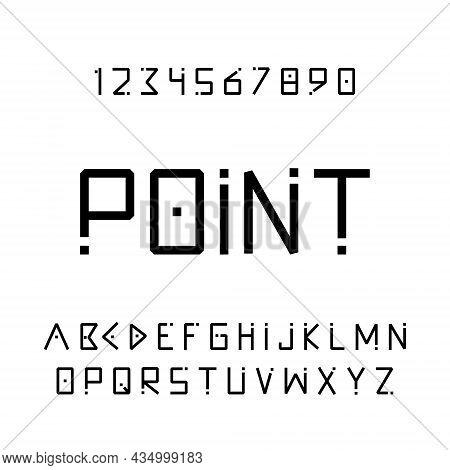 Creative Modern Alphabet. Minimal Font. Vector Illustration.