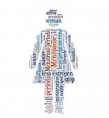 Menopause in word collage poster