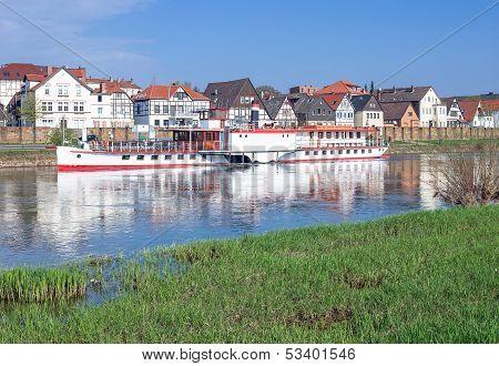 Minden,Weser River,Germany