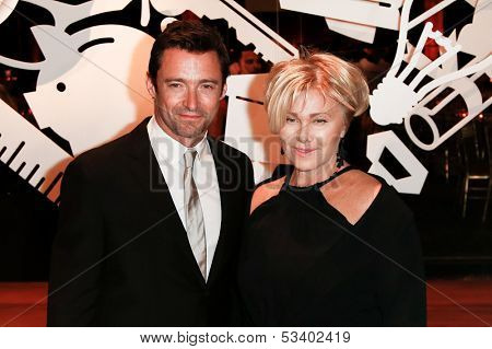 NEW YORK-SEP 17: Hugh Jackman (L) and wife Deborra-Lee Furness attend the 14th annual New Yorkers For Children Fall Gala at Cipriani 42nd Street on September 17, 2013 in New York City