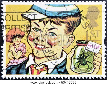 UNITED KINGDOM - CIRCA 1993: A stamp printed in Great Britain shows William Brown (William books)