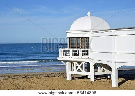 Wooden Wellness Caleta beach in Cadiz, Andalusia