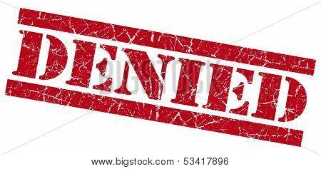 Denied Red Grunge Stamp