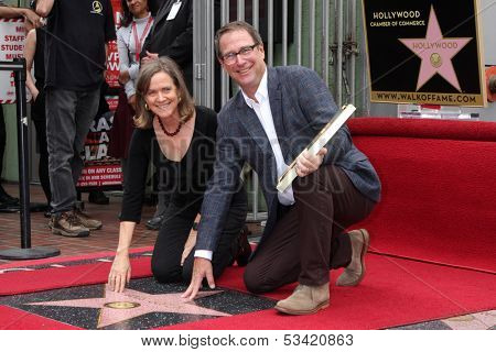 LOS ANGELES - NOV 4:  Laura Joplin, Michael Joplin at the Janis Joplin Hollywood Walk of Fame Star Ceremony at Hollywood Blvd on November 4, 2013 in Los Angeles, CA