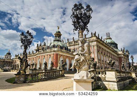 Neues Palais in Potsdam, Germany.