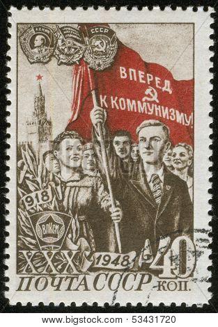 Vintage, Stamp, Macro