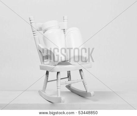 Pill Bottles Rocking Chair