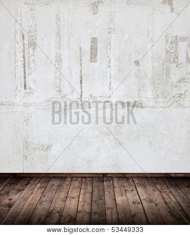 interior room with grunge wall