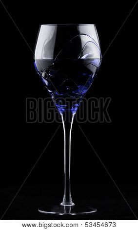 Wine Glass With Blue Potion