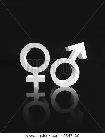 Símbolo de género femenino y masculino