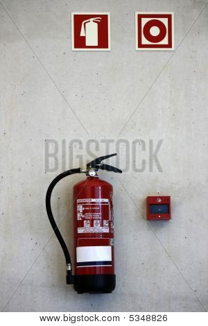 Extinguisher On The Wall